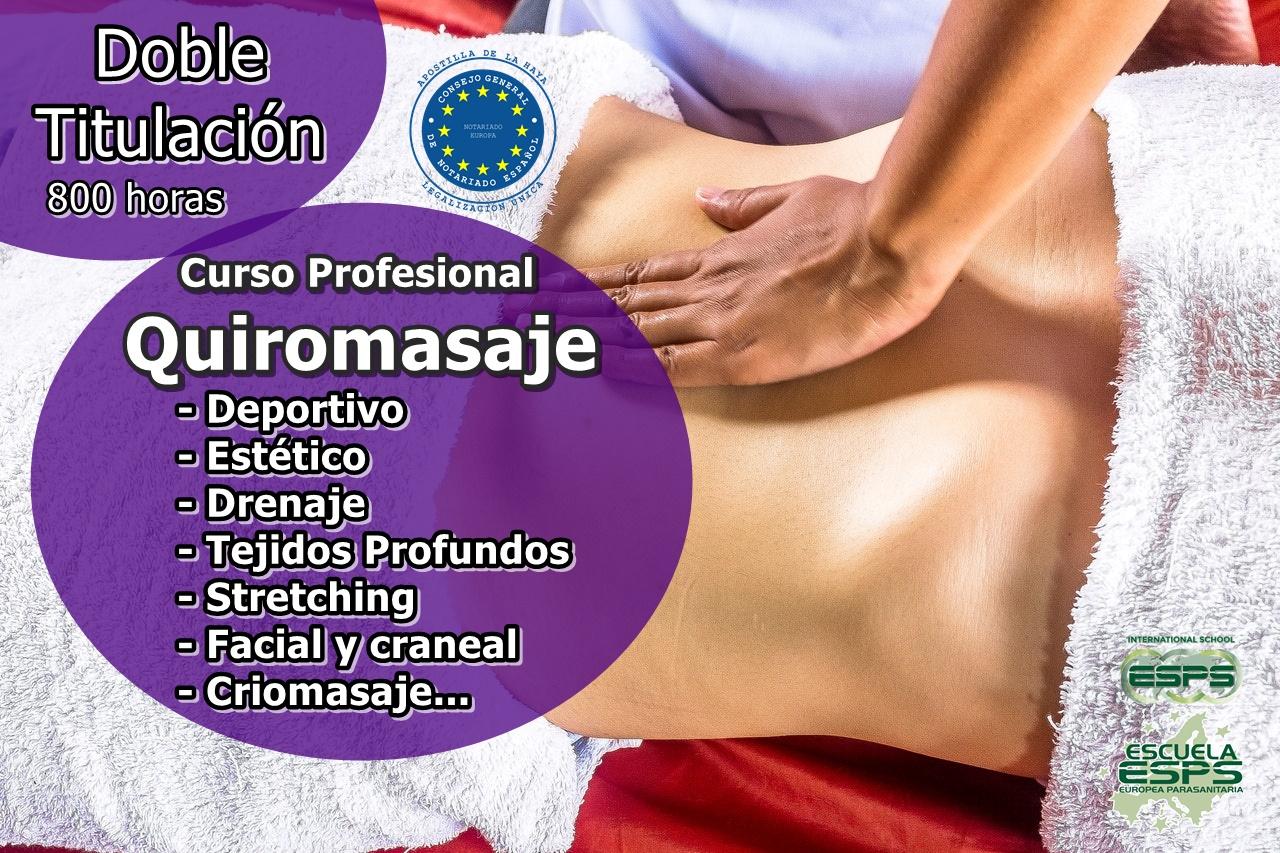 cursos de masaje y quiromasaje